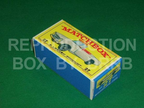 Matchbox 1-75 #27 Mercedes Benz 230 SL - Reproduction Box